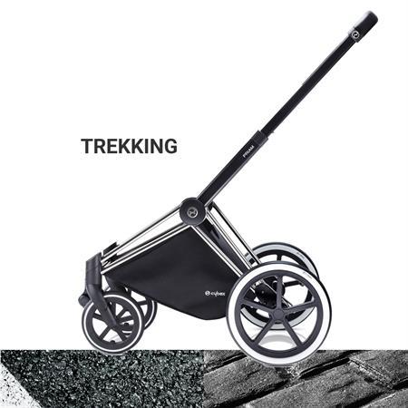 Cybex PRIAM Chrome Kinderwagen Gestell 2017 TREKKING Raeder