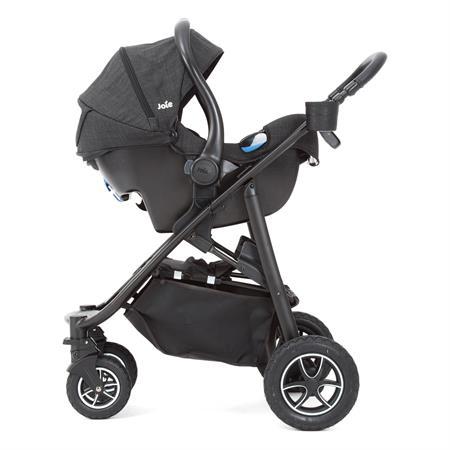 Joie Mytrax 2017 Buggy Kinderwagen Pavement Sitzbezug abgenommen und Joie Babyschale
