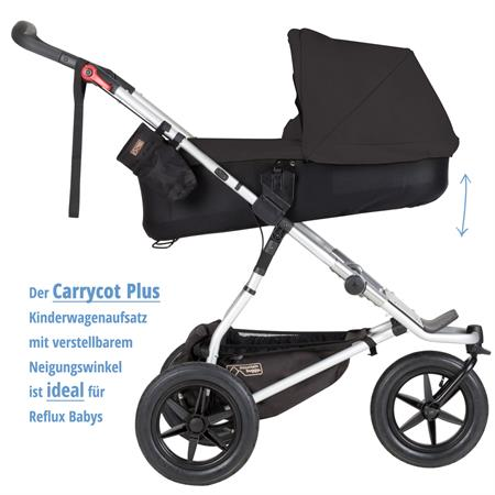 MountainBuggy Carrycot Plus Babywanne Urban Jungle black als Babywanne Neigungswinkel der Liegeflaec