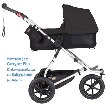 MountainBuggy Carrycot Plus Babywanne Urban Jungle black als Babywanne ab Geburt Detailansicht 01