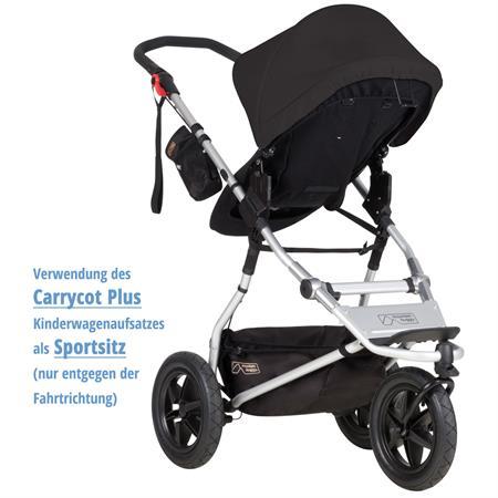 MountainBuggy Carrycot Plus Babywanne Urban Jungle black als Sportsitz nur entgegen der Fahrtrichtun