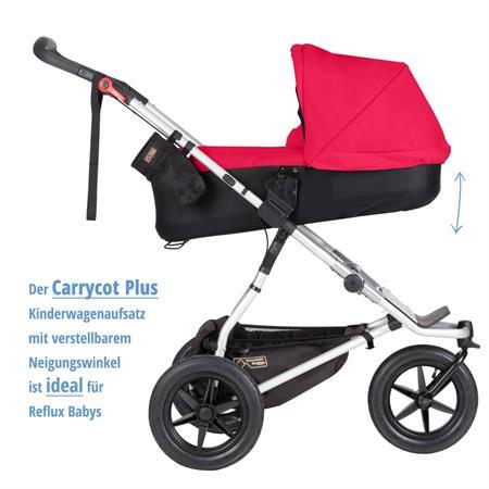 MountainBuggy Carrycot Plus Babywanne Urban Jungle chilli Neigungswinkel der Liegeflaeche veraenderb