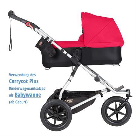 MountainBuggy Carrycot Plus Babywanne Urban Jungle chilli als Babywanne ab Geburt Detaillierte Ansic