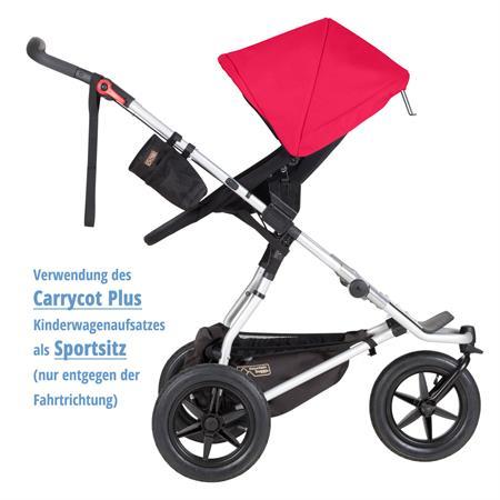 MountainBuggy Carrycot Plus Babywanne Urban Jungle chilli als Sportsitz nur entgegen der Fahrtrichtu
