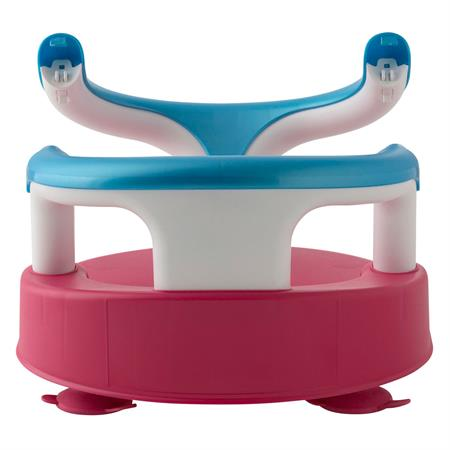 Rotho 20429021901 Baby Badesitz Raspberry Rot Aquamarine Blau Weiss 04 Ansichtsdetail 03