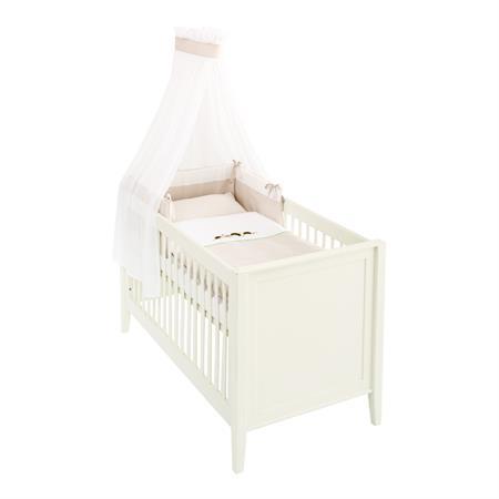 Träumeland 3tlg. Bett-Set mit Himmel, Nestchen und Bettwäsche Igelfamilie
