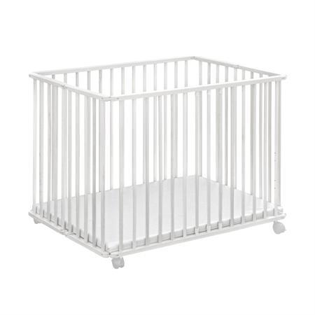 Baby-Plus Holzlaufgitter Ludo Weiß 102 x 76 cm