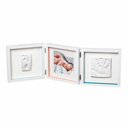 Babyart Bilderrahmen My Baby Style White für Fuß/Handabdruck