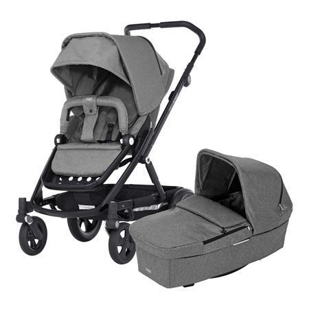 Britax Kombinderwagen GO NEXT inkl. Babywanne Design 2018 Grey Melange / Black