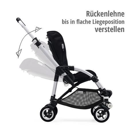 bugaboo bee5 Schwarz-Schwarz-Schwarz | Rückenlehne bis in flache Liegeposition