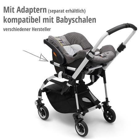 bugaboo bee5 Schwarz-Schwarz-Schwarz | mit Babyschale kombinieren - Adapter nicht vergessen