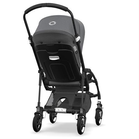 bugaboo bee5 Kinderwagen Gestell schwarz - Sitz schwarz - Verdeck Grau Meliert | Rueckansicht