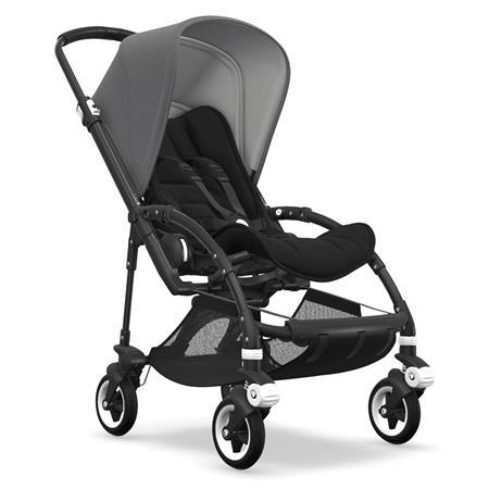 bugaboo bee5 Kinderwagen Gestell schwarz - Sitz schwarz - Verdeck Grau Meliert