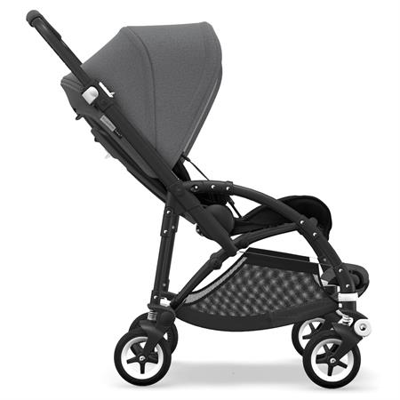 bugaboo bee5 Kinderwagen Gestell schwarz - Sitz schwarz - Verdeck Grau Meliert | Seitenansicht