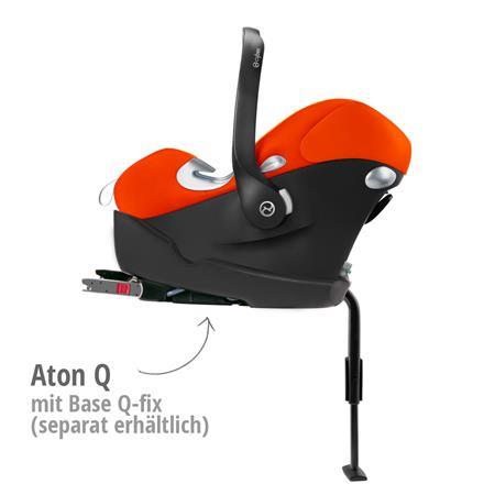 Babyschale Cybex Aton Q Mars Red - red | kompatibel mit Base Q-fix Isofix Basissitation