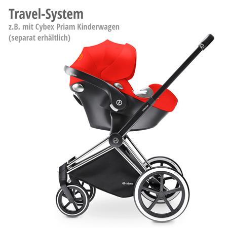 Babyschale Aton Q Plus i-Size Stardust Black | Blackmit LSP = Linearer Seitenaufprallschutzals Trave