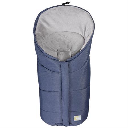 Fillikid Winterfußsack Eiger Gr.0 Polyester-Pongee Blau melange