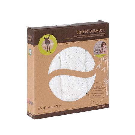 Lässig Bamboo Mulltuch Muslin Swaddle & Burp Blanket L lela light grey