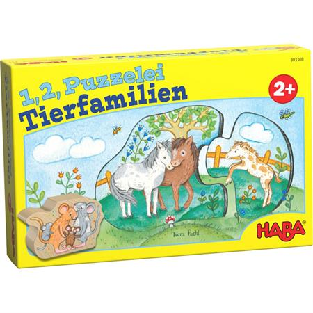 Haba 1,2 Puzzelei Tierfamilien