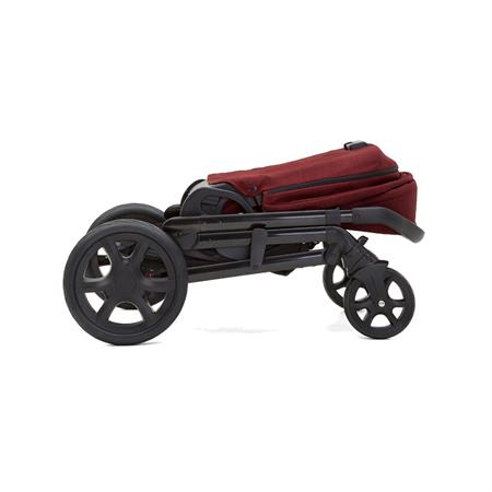 Joie Chrome DLX Kombikinderwagen inkl. Fußsack, Adapter & Regenverdeck Cranberry