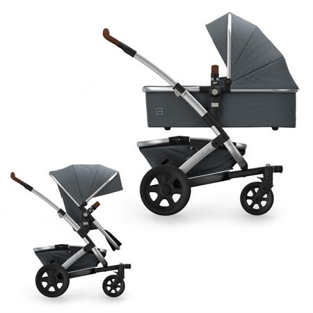 JOOLZ Geo2 Kinderwagen mit Gestell, oberer Wanne, oberem Sitz & Korb Earth Edition Hippo Grey