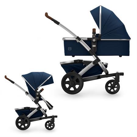 JOOLZ Geo2 Kinderwagen mit Gestell, oberer Wanne, oberem Sitz & Korb Earth Edition Parrot Blue