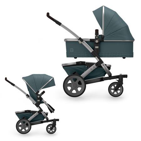 JOOLZ Geo2 Kinderwagen mit Gestell, oberer Wanne, oberem Sitz & Korb Quadro Edition Blu