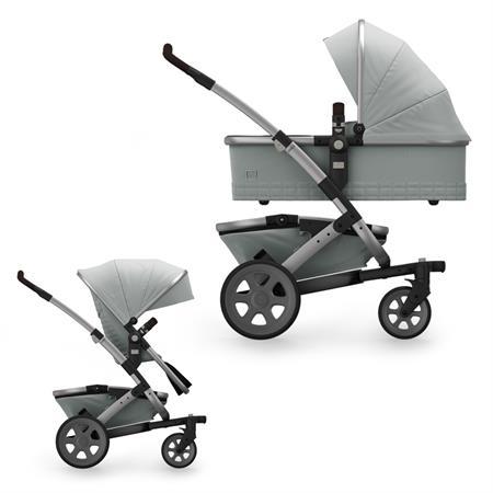 JOOLZ Geo2 Kinderwagen mit Gestell, oberer Wanne, oberem Sitz & Korb Quadro Edition Grigio
