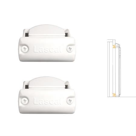 Lascal Rohrhalterungen für KiddyGuard Avant 2er-Set Rollseite Weiß