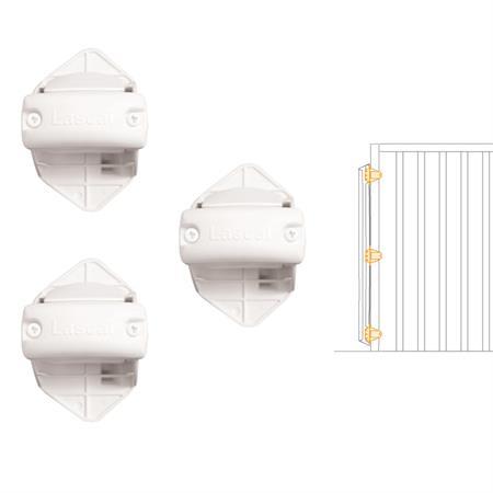 Lascal Rohrhalterungen für KiddyGuard Avant 2er-Set Schliessleiste Weiß