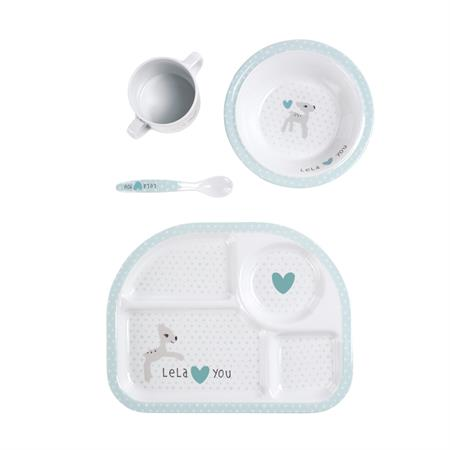 Lässig Kindergeschirr Dish Set Lela light mint