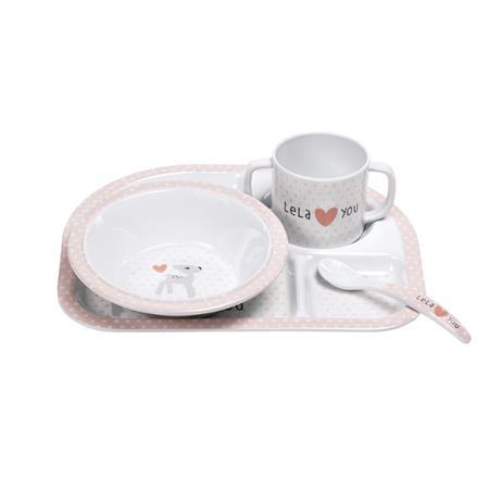 Lässig Kindergeschirr Dish Set Lela light pink