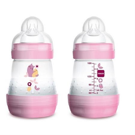 MAM Anti-Colic 160 ml Babyflasche Rosa
