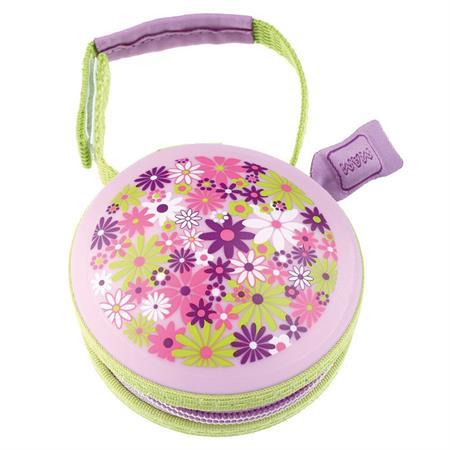 MAM Pod Schnullertasche für MAM Schnuller Pink Blumen