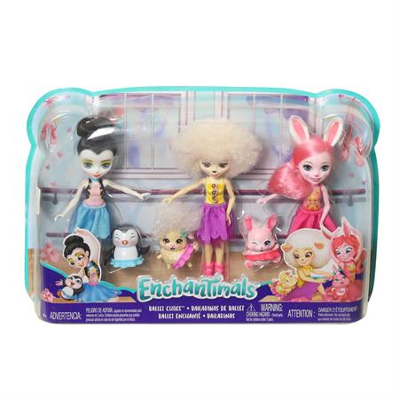 Mattel Enchantimals Puppe Multipack Ballett