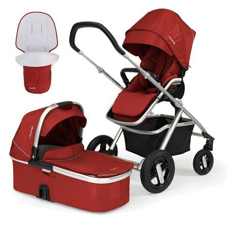 nuna ivvi kombikinderwagen mit babywanne ab geburt 2016 scarlet red Hauptbild