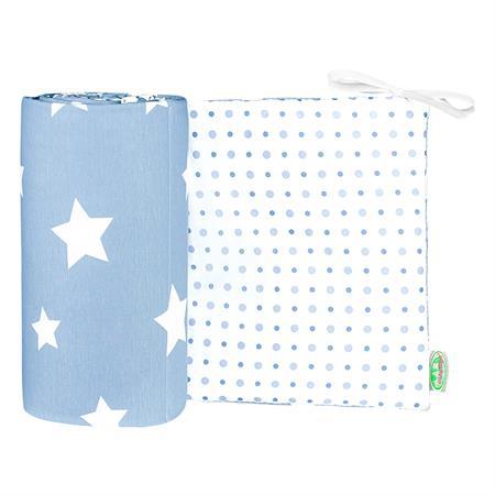 Odenwaelder 4065 Jersey Nestchen White Stars 4065 1096 Sky Blue