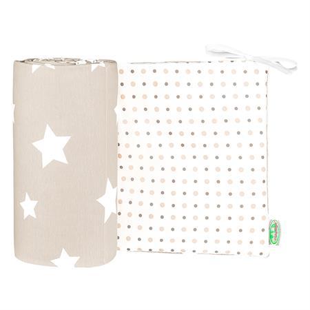 Odenwaelder 4065 Jersey Nestchen White Stars 4065 1099 Iced Coffee