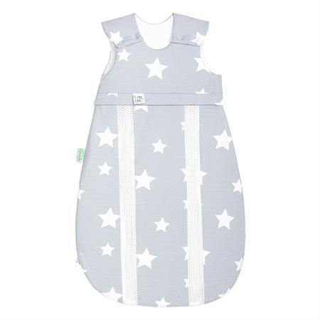 Odenwälder Jersey-Schlafsack Primaklima White stars light silver