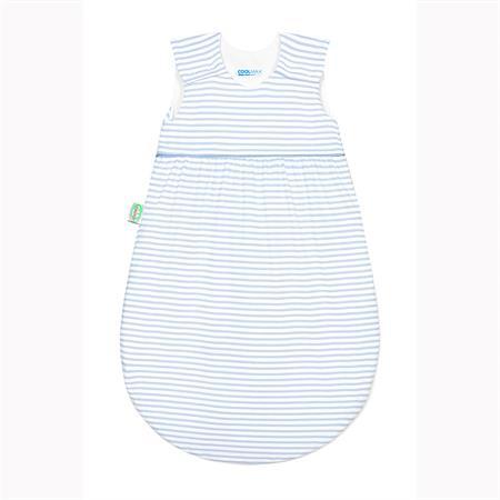 "Odenwälder Jersey-Schlafsack ""Timmi Cool"" Stripes cool blue 70"