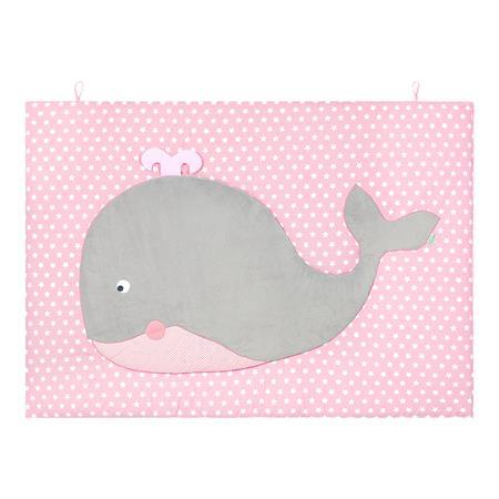 Odenwälder 00735-1/1060 Krabbeldecke Walfisch Kuno 100 x 135 cm Candy Pink