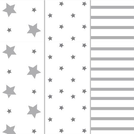 Odenwälder Windeln Stars stripes 3er Pack Light silver