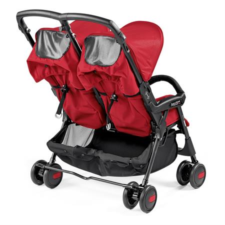 Peg Perego Aria Shopper Twin Mod Red Back Sichtfenster
