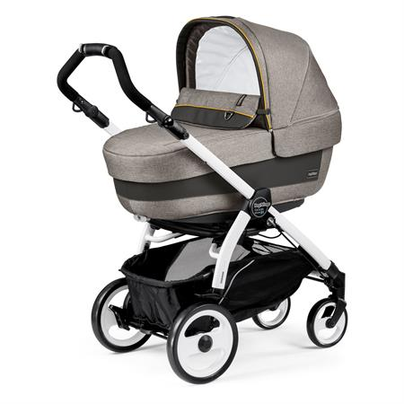 Peg Perego Book 51 Completo Luxe Grey Gestell 51 Weiss Navetta