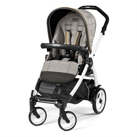 Peg Perego Book 51 Completo Luxe Grey Gestell 51 Weiss Ohne Beindecke