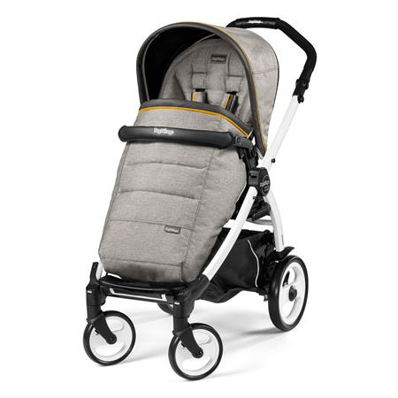 Peg Perego Book 51 Completo Luxe Grey Gestell 51 Weiss