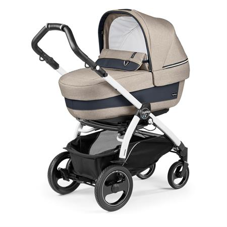 Peg Perego Book 51s Completo Luxe Beige Gestell 51s Weiss Navetta