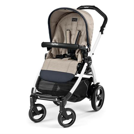 Peg Perego Book 51s Completo Luxe Beige Gestell 51s Weiss Ohne Beindecke