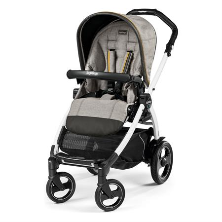 Peg Perego Book 51s Completo Luxe Grey Gestell 51s Weiss Ohne Beindecke