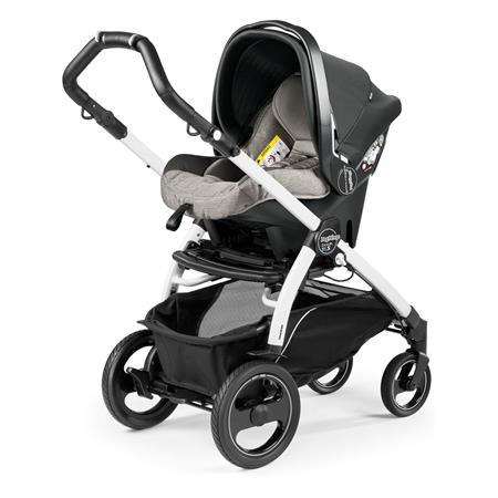 Peg Perego Book 51s Completo Luxe Grey Gestell 51s Weiss Primo Viaggio Sl